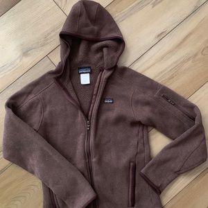 Women's Patagonia zip sweater jacket with hood